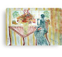 Tea at the Window Canvas Print