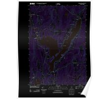 Maine USGS Historical Map China Lake 20110906 TM Inversion Poster