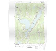 Maine USGS Historical Map China Lake 20110906 TM Poster
