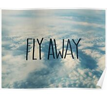 Fly Away Clouds Poster