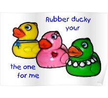 Rubber Ducky art Poster