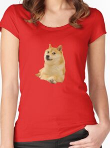 Doge shibe meme classic Women's Fitted Scoop T-Shirt