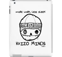 Kaizo Minds - More Work, Less Sleep [Oscar Logo] iPad Case/Skin