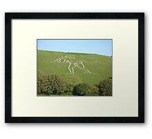 Cerne Abbas giant. Dorset England Framed Print
