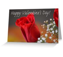Happy Valentine's Day Rose Bud Greeting Card