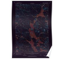 Maine USGS Historical Map Churchill Lake 306525 1962 62500 Inversion Poster