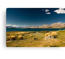 Scenic view of lake tekapo Canvas Print