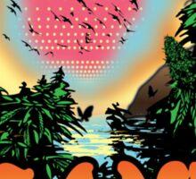 Island Grown 420 art Sticker