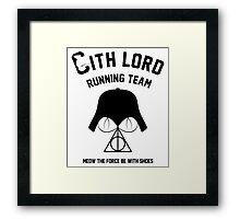 Sith lord running team Framed Print