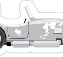 Golf Club Smashed Car Sticker