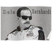 DEDICATION TO DALE EARNHARDT SR. (INTIMIDATOR) NASCAR  Poster