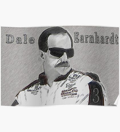 DEDICATION TO DALE EARNHARDT SR. (INTIMIDATOR) NASCAR  Poster