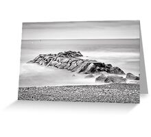 Abandoned Rock Pier Greeting Card
