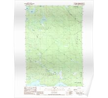 Maine USGS Historical Map Churchill Stream 105029 1989 24000 Poster
