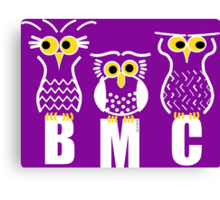 BMC Owls - Purple Canvas Print