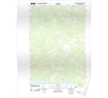 Maine USGS Historical Map Churchill Stream 20110910 TM Poster