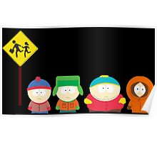 South Park Bus Stop Poster