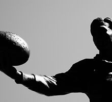 AFL player statue by pixmate