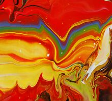 Abstract Rainbow Painting by markchadwick