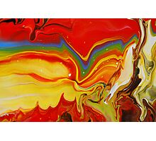 Abstract Rainbow Painting Photographic Print