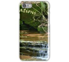 Closeups In Nature Woodland Falls iPhone Case/Skin