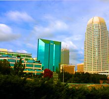 Down Town Winston Salem HDR by Robert Woods