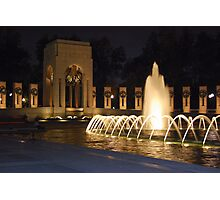WWII Memorial Photographic Print