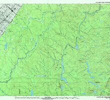 Maine USGS Historical Map Clayton Lake 807857 1993 100000 by wetdryvac