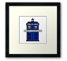 DOCTOR WHO - MAD MAN WITH A BOX Framed Print