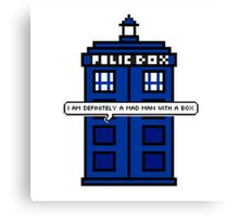 DOCTOR WHO - MAD MAN WITH A BOX Canvas Print