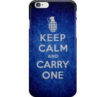 Keep Calm and Carry One iPhone Case/Skin