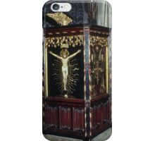 Pulpit Hexham Abbey Northumbria England 19840530 0055 iPhone Case/Skin