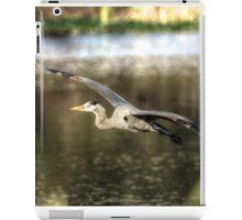 Great Blue Heron flying overwater iPad Case/Skin