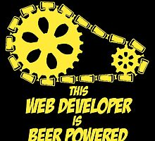 this web developer is beer powered by teeshoppy