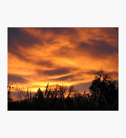 The dance of cloud color Photographic Print