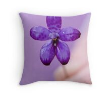 Enamel Orchid Throw Pillow