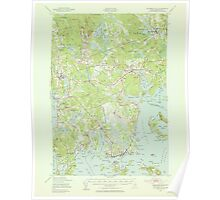 Maine USGS Historical Map Columbia Falls 306527 1941 62500 Poster