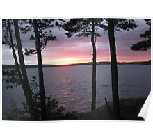 Lake Sunset,-Available As Art Prints-Mugs,Cases,Duvets,T Shirts,Stickers,etc Poster