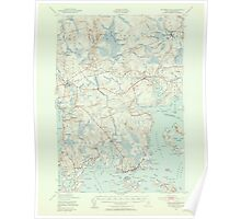 Maine USGS Historical Map Columbia Falls 306528 1941 62500 Poster