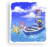 Isabelle Overboard! Canvas Print