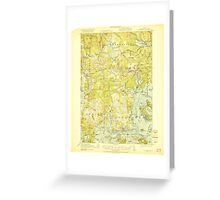 Maine USGS Historical Map Columbia Falls 460327 1921 62500 Greeting Card