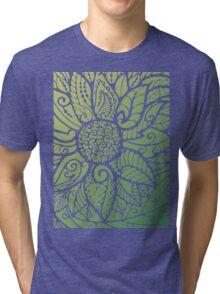 Flower pattern Tri-blend T-Shirt