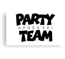 Après-Ski Party Team Winter Sports Design Canvas Print