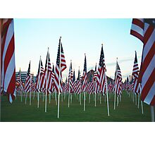 Tempe911Flags Photographic Print