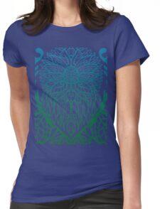 Sunflower pattern Womens Fitted T-Shirt