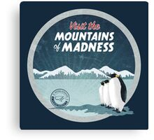 Visit the Mountains of Madness - Round Canvas Print