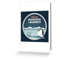 Visit the Mountains of Madness - Round Greeting Card