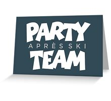 Après-Ski Party Team Winter Sports Design Greeting Card
