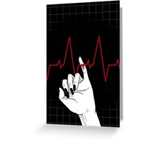 Red String of Fate (in black) Greeting Card