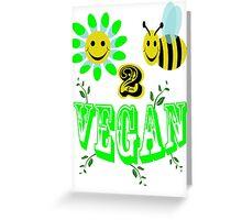 happy 2 bee vegan Greeting Card